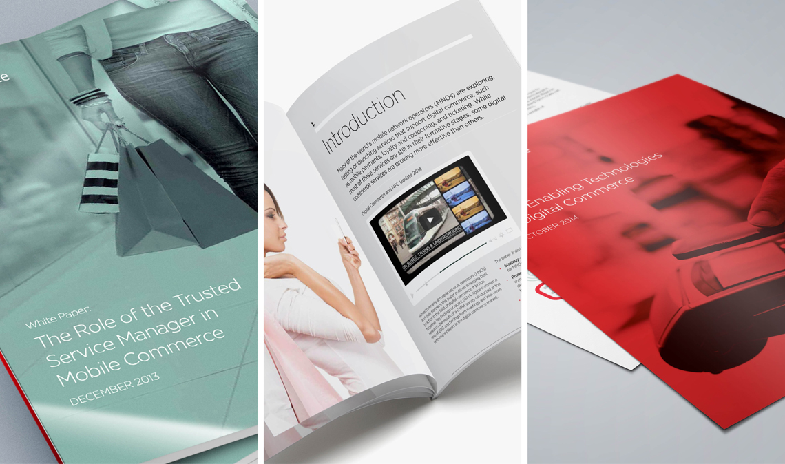 B2B content marketing brochures